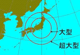 大型、超大型の台風