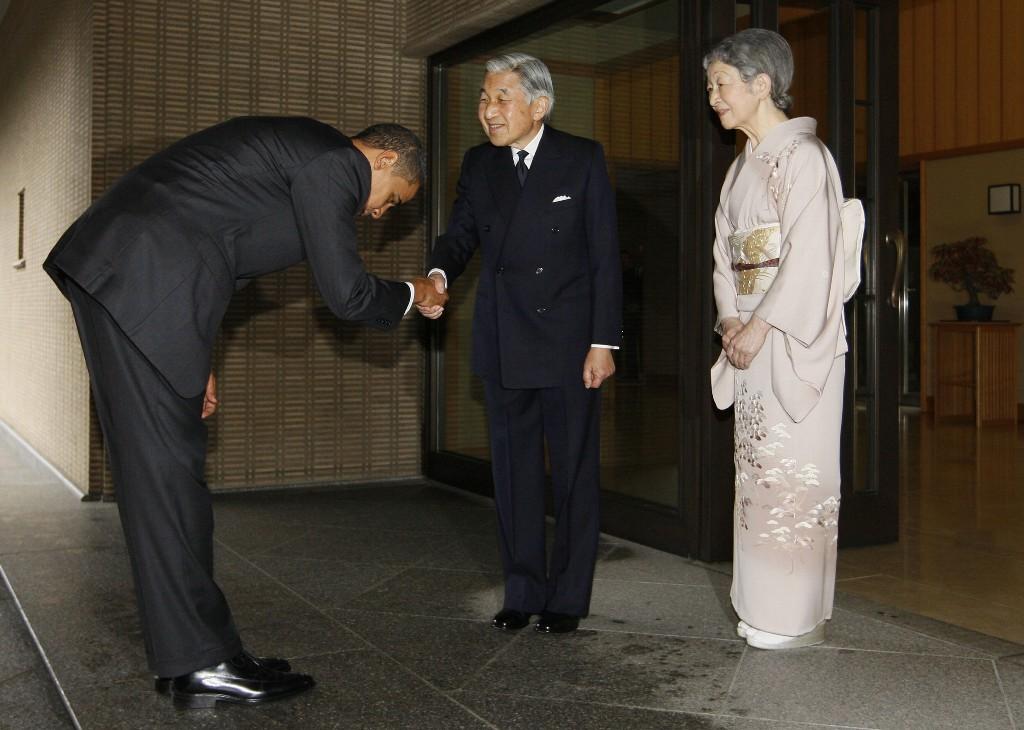 天皇陛下とオバマ大統領の初対面