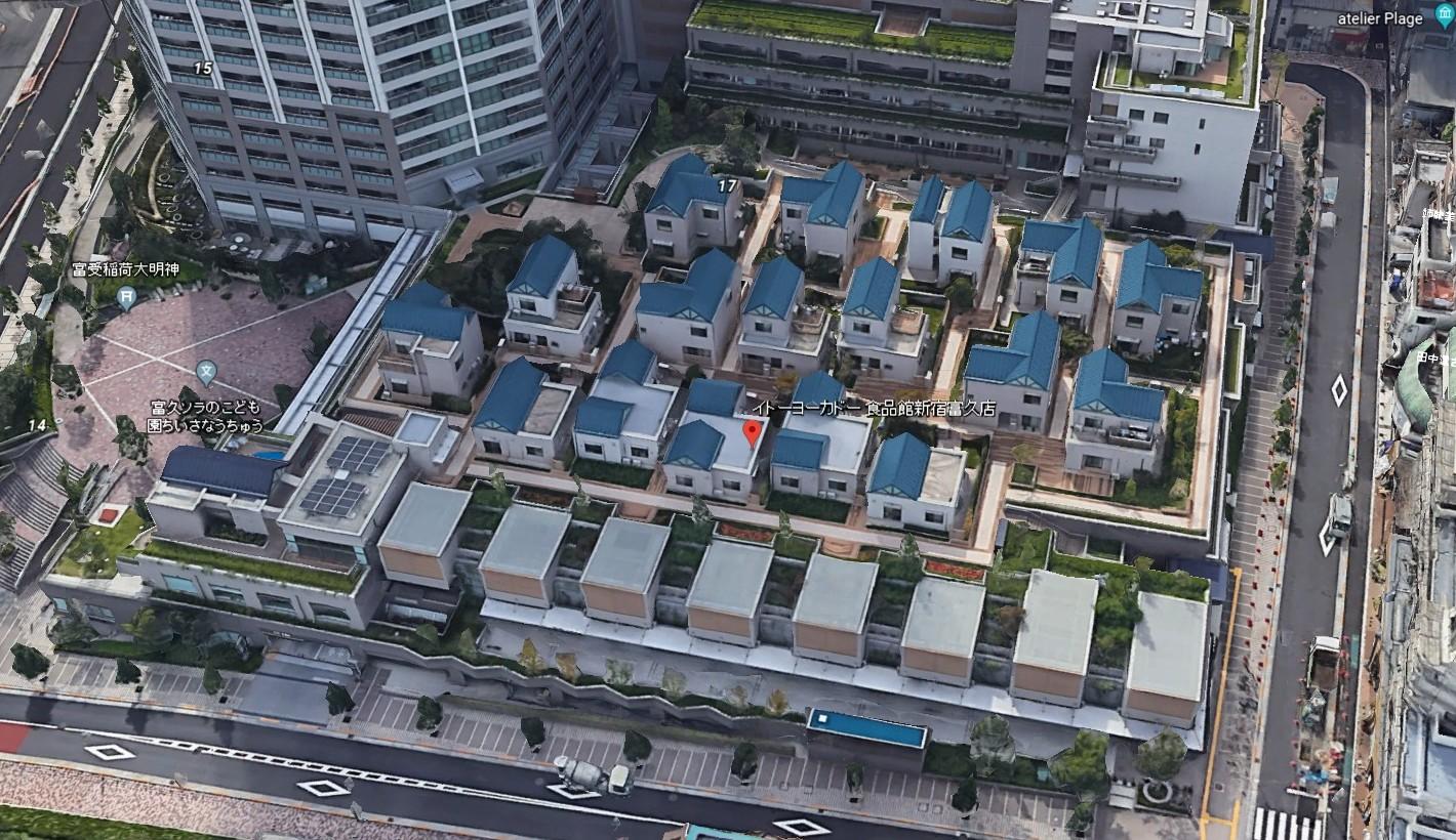 イトーヨーカドー新宿富久店(Google Earth)