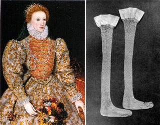 エリザベス1世の靴下
