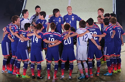 サッカー日本代表の円陣