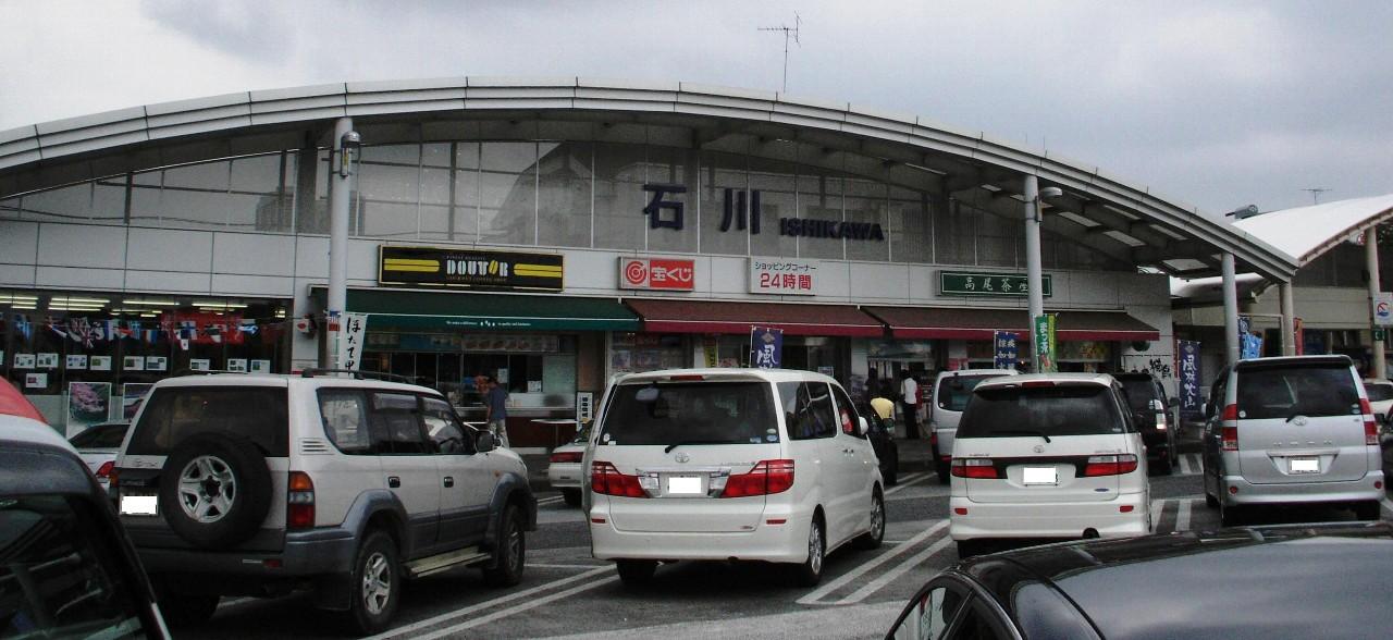 サービスエリアの駐車線