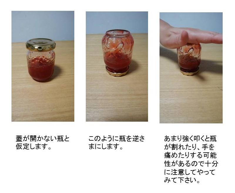 固いビンの蓋を開ける方法