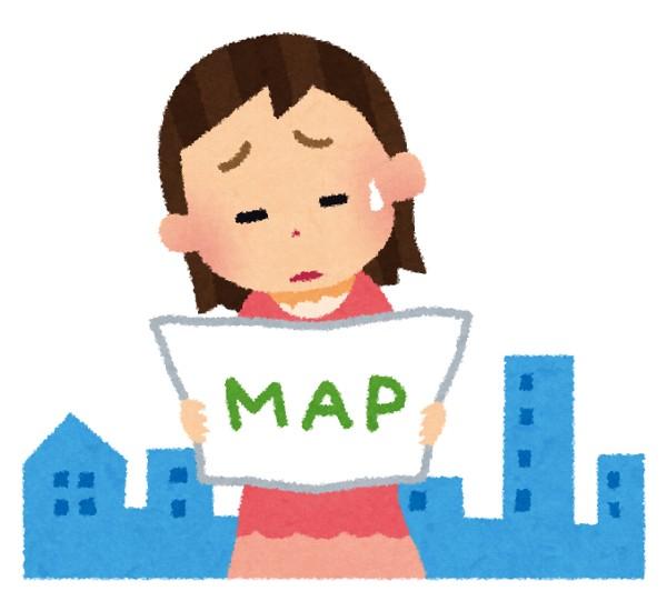 地図を読めない女性