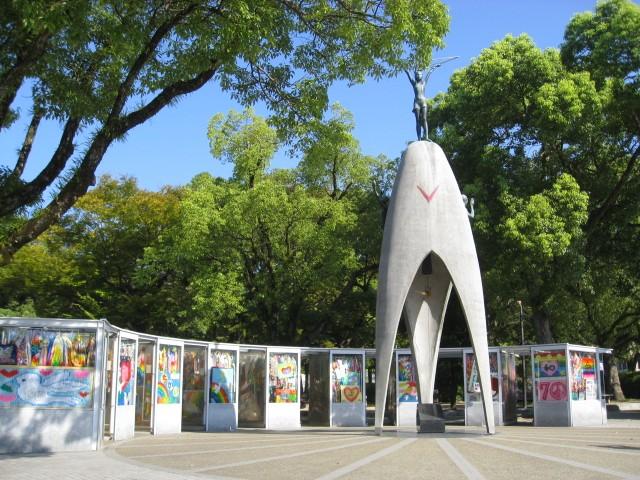 平和記念公園の折り鶴