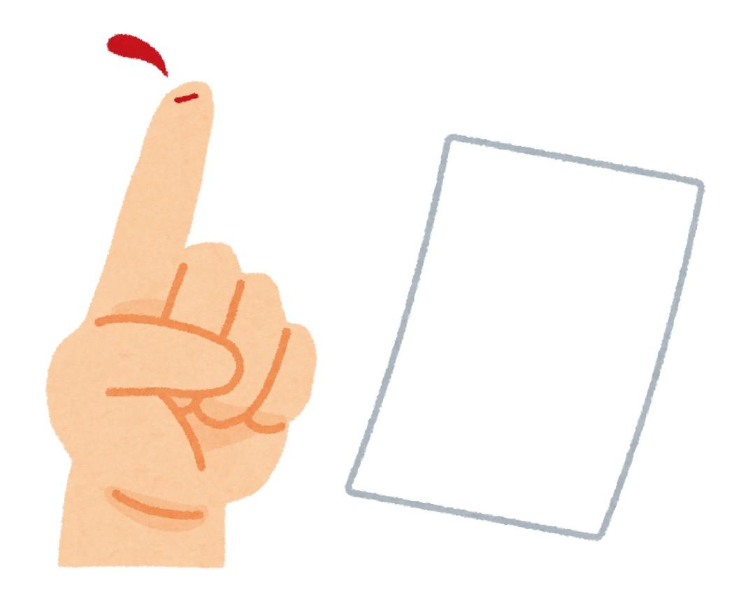 紙で指を切る