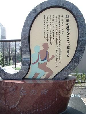 「駅伝発祥の地」の碑(京都・三条大橋)