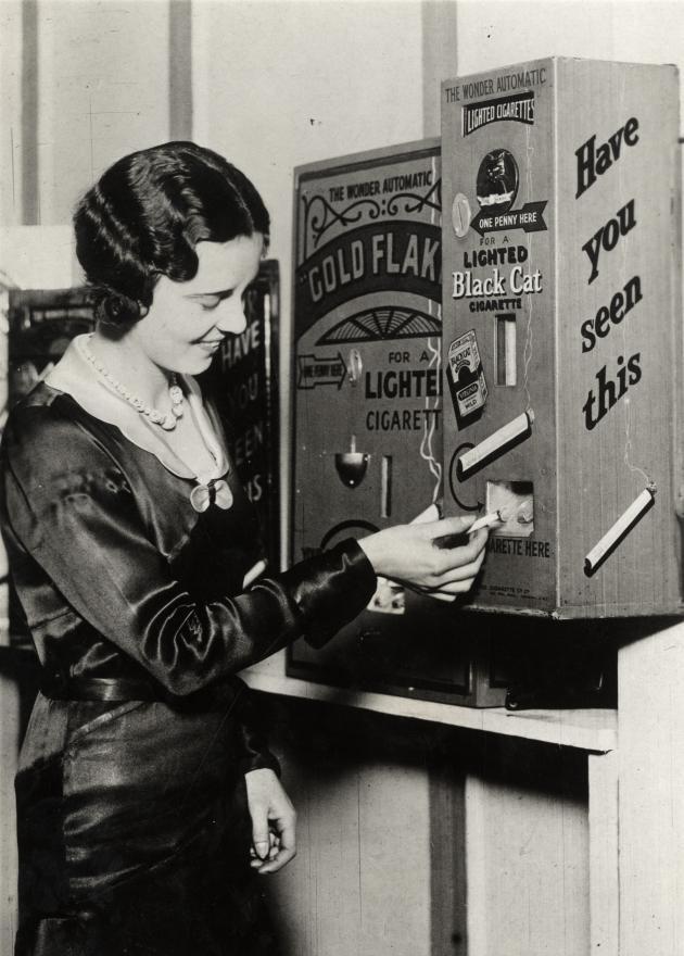 煙草の自動販売機(イギリス、1931年)