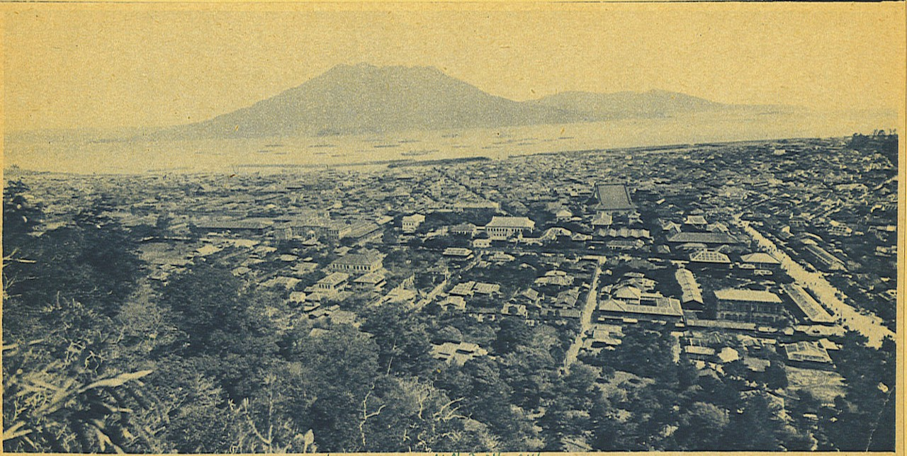 大正大噴火で火山灰に覆われた鹿児島市街
