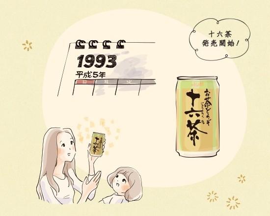 十六茶の発売開始