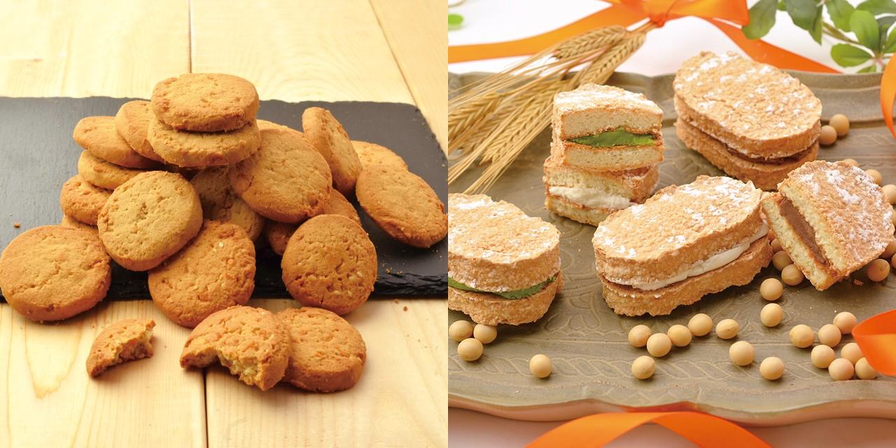 3種の大麦おからクッキー・おからの大麦ダクワーズ