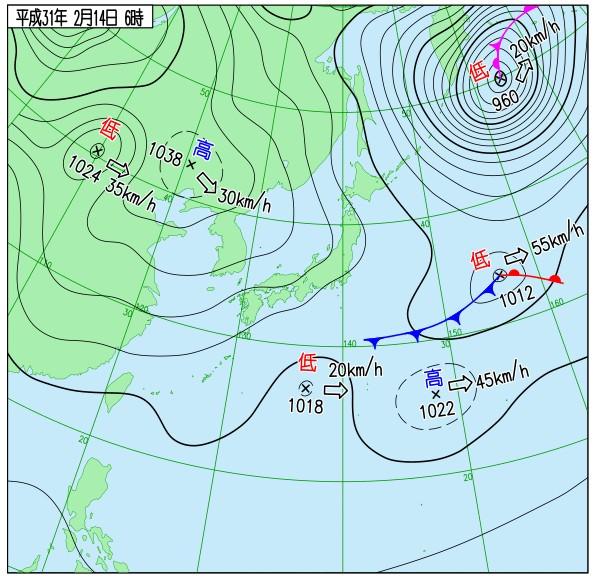 天気図(気象庁)