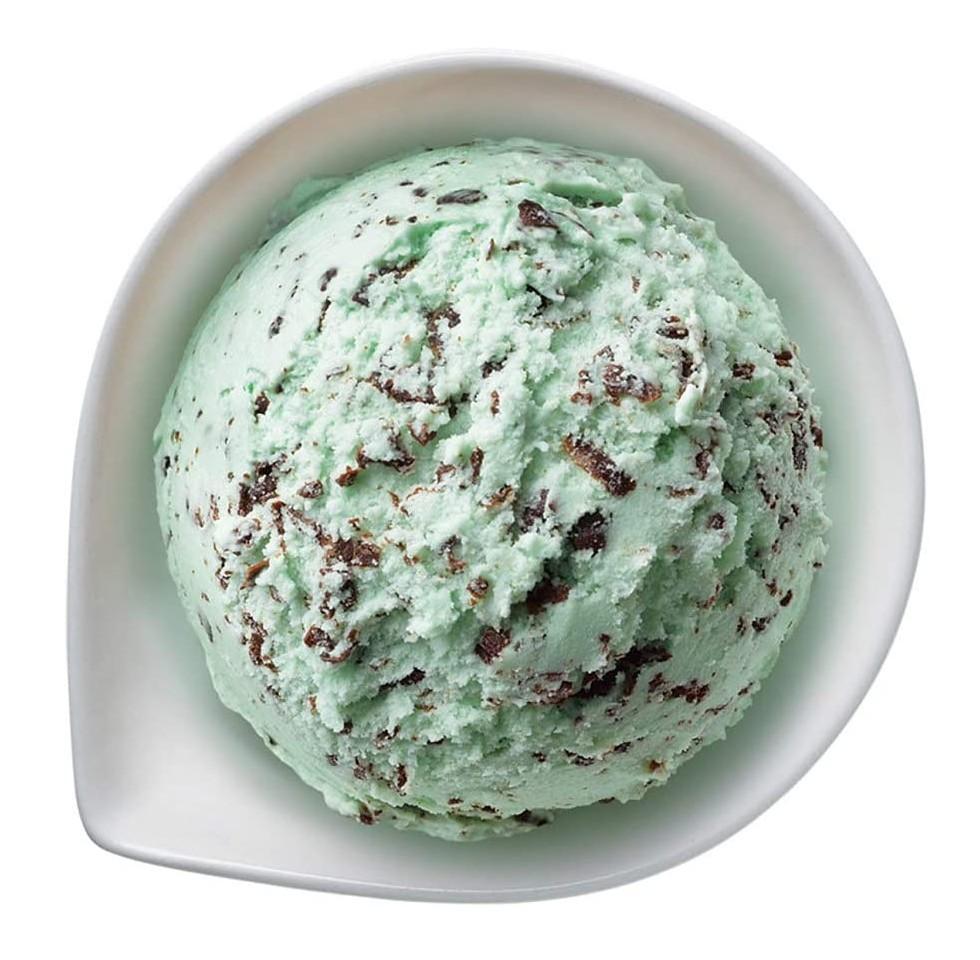 チョコミントのアイスクリーム