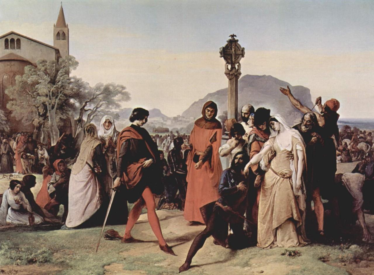 シチリアの晩祷(フランチェスコ・アイエツ画)