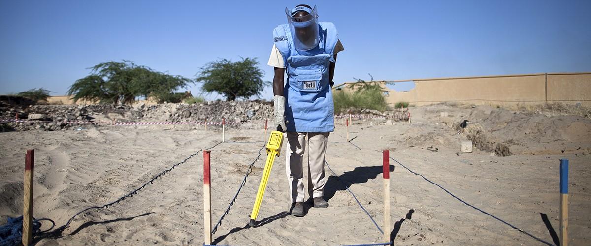 対人地雷の探知・除去活動