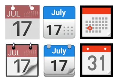 カレンダーの絵文字