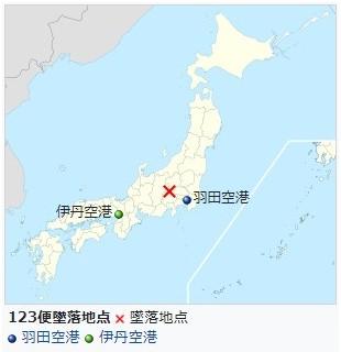 日航機123便墜落地点