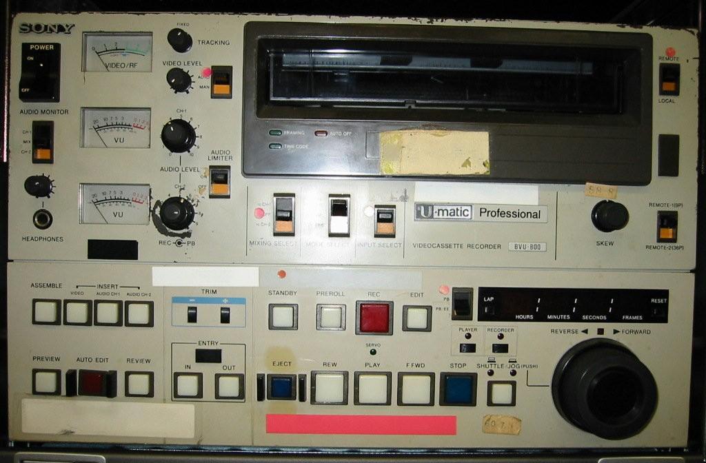 ソニー U規格VTR BVU-800