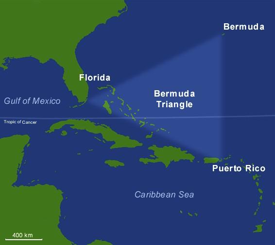 バミューダトライアングルの地図