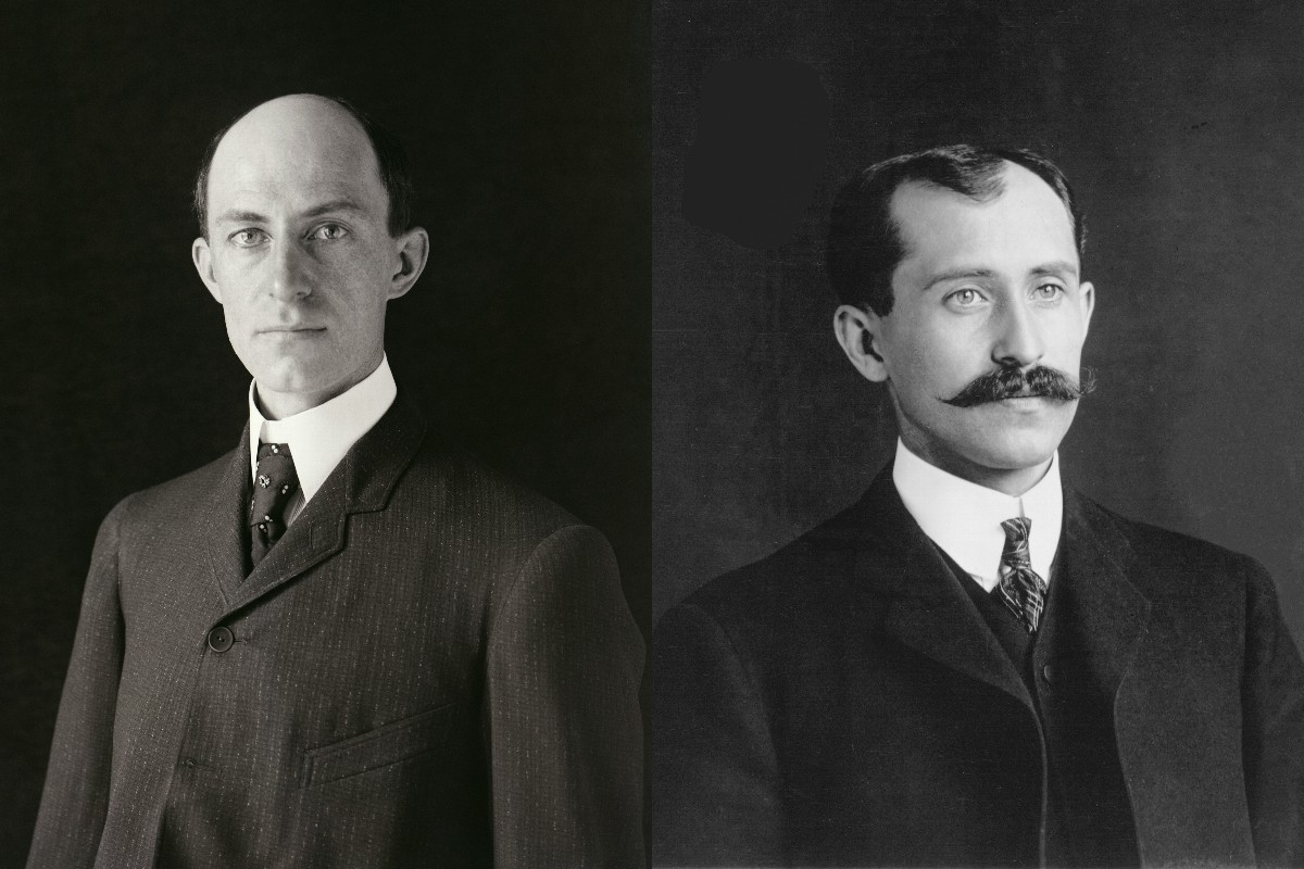 ライト兄弟(左:ウィルバー、右:オーヴィル)